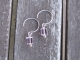 Light Pink Square Crystals on Sterling Silver Earrings
