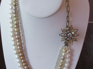 Vintage Pin and Pearls